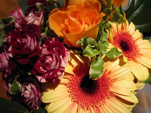 突然のお花