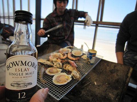 牡蠣とボウモア
