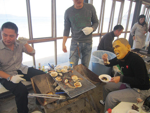 牡蠣とオバマ