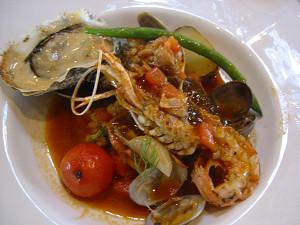 手長海老と牡蠣
